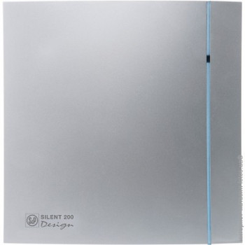 Tichý ventilátor Soler&Palau SILENT 200 DESIGN Silver CRZ 3C tichý