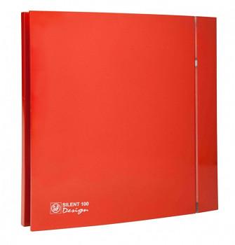 Tichý ventilátor Soler&Palau SILENT 100 DESIGN Red CRZ 4C tichý