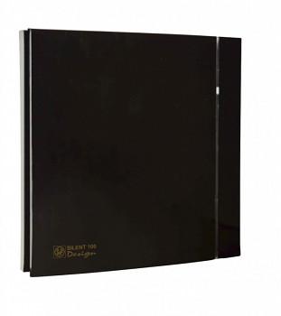 Tichý ventilátor Soler&Palau SILENT 100 DESIGN Black CRZ 4C tichý