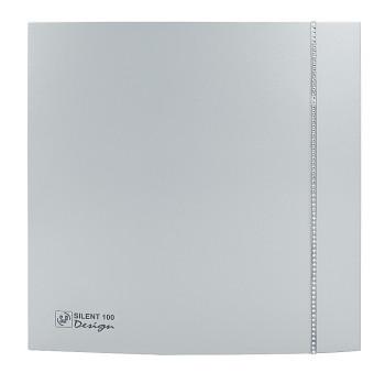 Tichý ventilátor Soler&Palau SILENT 100 DESIGN Swarovski Silver CZ tichý