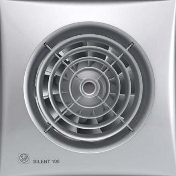 Tichý ventilátor Soler&Palau SILENT 100 Silver CHZ tichý