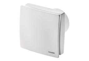 Tichý ventilátor do koupelny s el. žaluzií ECA 100 ipro KVZC (Nastavitelný doběh)