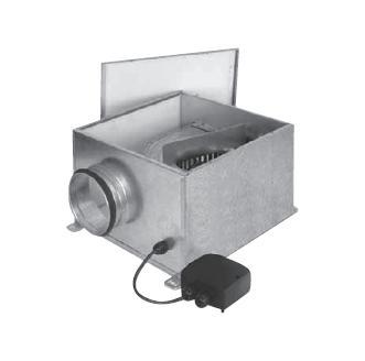 Potrubní radiální ventilátor S&P CVB-350/125 SLIMBOX