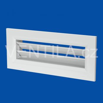 VentilaFlex hliníková mřížka bílá k zakončení boxu do stěny 200x55 mm