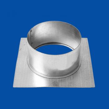 Kanálový nástavec na čtvercové desce 100/150x150 mm