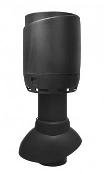 Sanitární odvětrávací potrubí 110P/300 FLOW + hlavice, černá RAL 9005