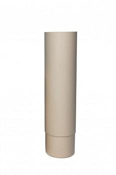 ROSS svislá trubka Ø 125 mm, světle šedá RAL 7040